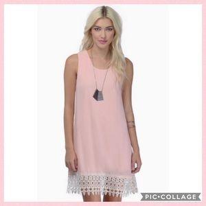 Tobi Peach Lace Trim Dress